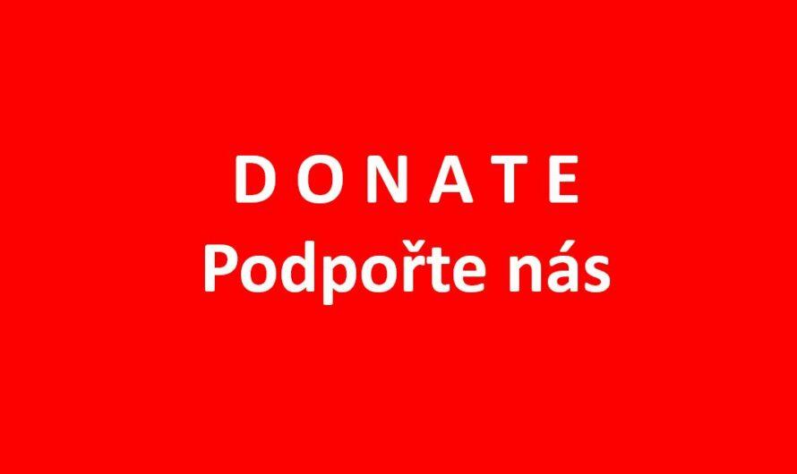 DONATE – Podpořte nás